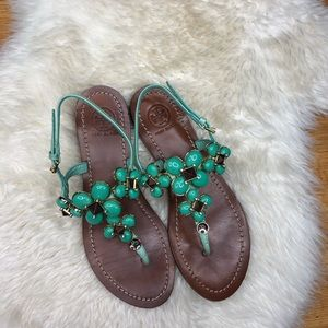 Tory Burch Beaded Sandals